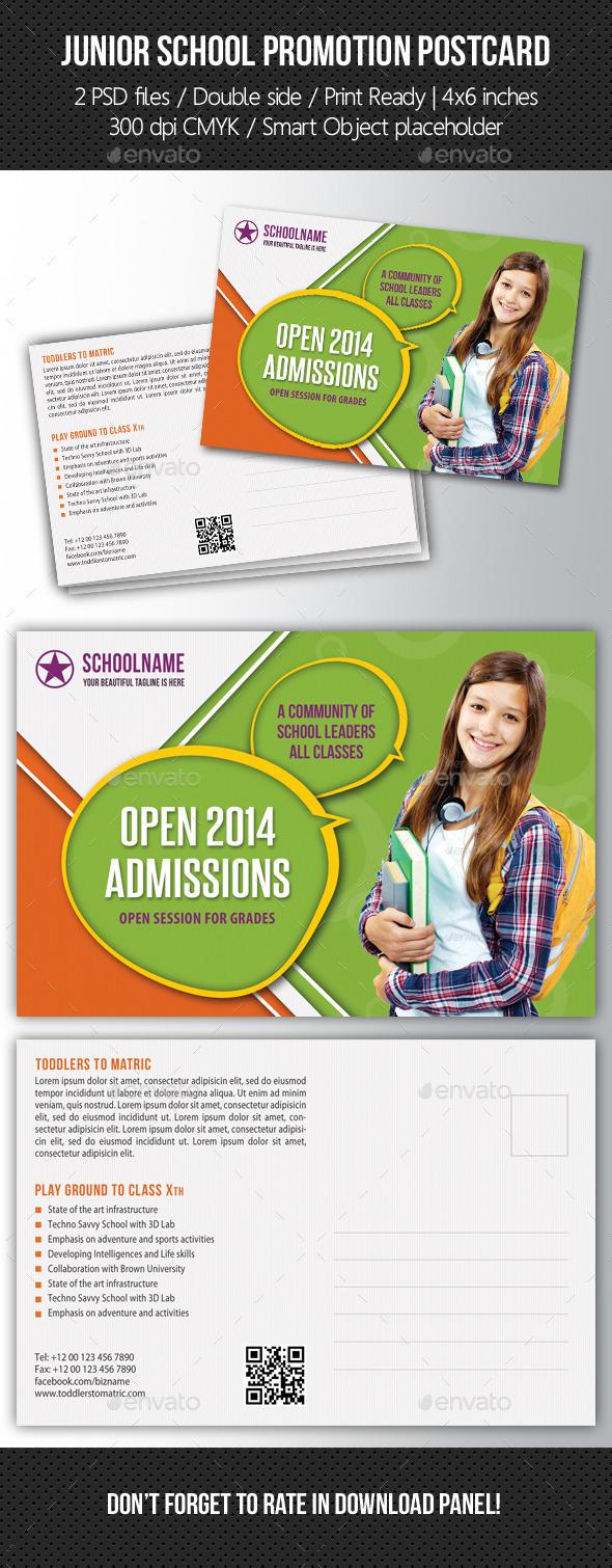 GraphicRiver Junior School Promotion Postcard 04 10573433