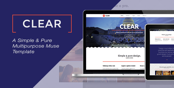 Clear - Multipurpose Muse Template