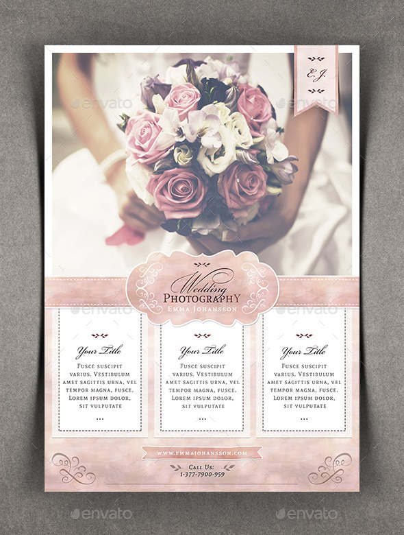 Watercolor Wedding Photography Flyer By Agape Z Graphicriver
