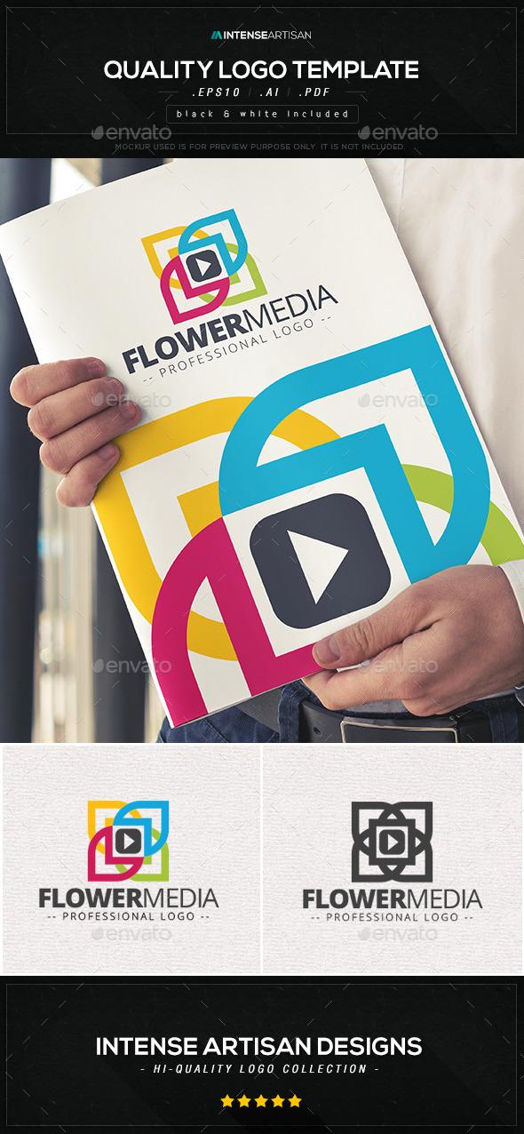 GraphicRiver Flower Media Logo Template 10573669