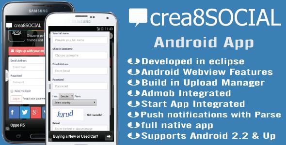 Crea8social Android App