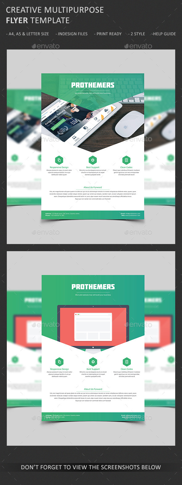 GraphicRiver Creative Web Design Agency Flyer 10495806