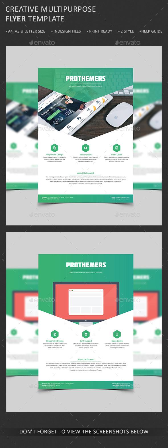 GraphicRiver Creative Web Design Agency Flyer 10495806