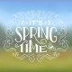 It's Spring Time Typographic Design - GraphicRiver Item for Sale