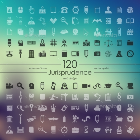 GraphicRiver Set of Jurisprudence Icons 10574299