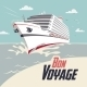 Cruise Ship Bon Voyage Illustration - GraphicRiver Item for Sale