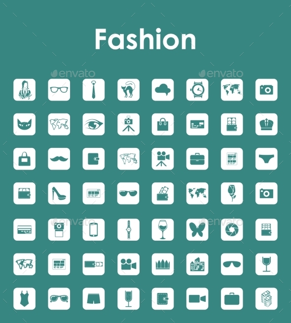 GraphicRiver Set of Fashion Simple Icons 10574462