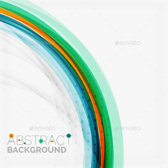 GraphicRiver Abstract Blue and Orange Color Line Background 10574765