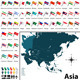 Political Map of Asia - GraphicRiver Item for Sale