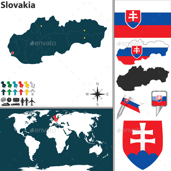 GraphicRiver Map of Slovakia 10574859