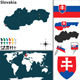 Map of Slovakia - GraphicRiver Item for Sale
