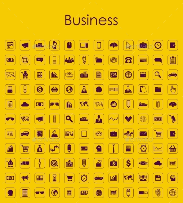 GraphicRiver Set of Business Icons 10574872