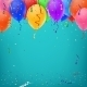 Celebration Background Template with Confetti - GraphicRiver Item for Sale