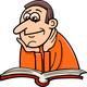 reader man cartoon illustration - PhotoDune Item for Sale