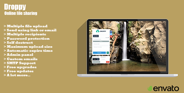 CodeCanyon Droppy Online file sharing 10575317