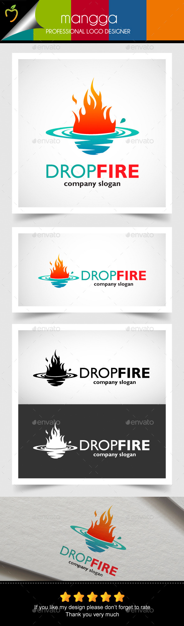 GraphicRiver Drop Fire 10575381