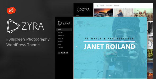 ThemeForest Zyra Fullscreen Photography Theme 10534819
