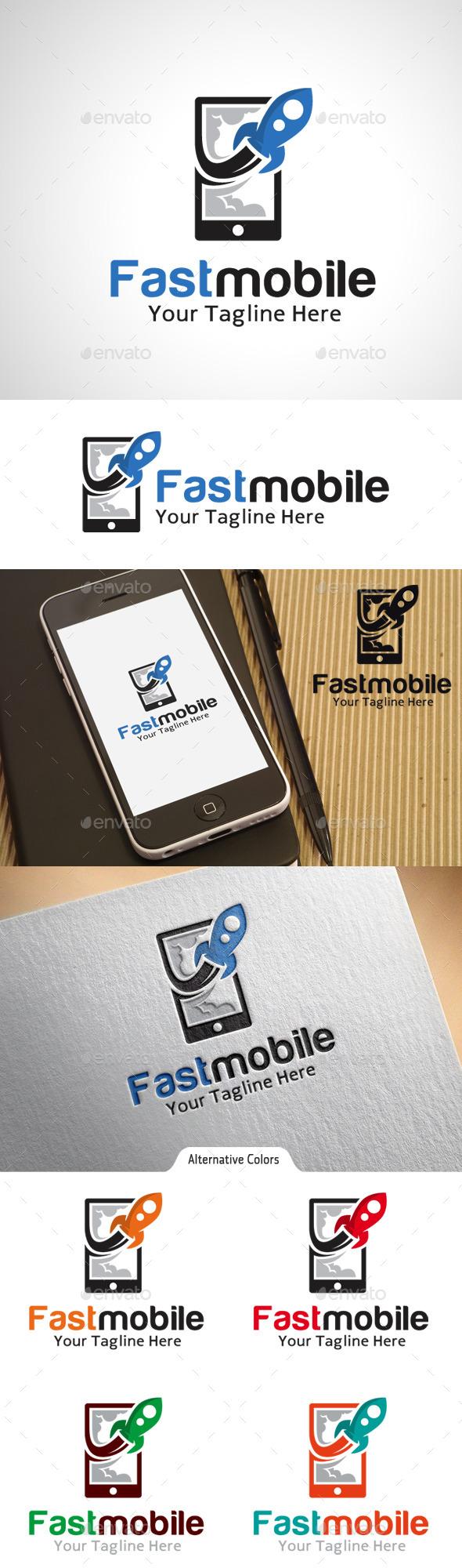 GraphicRiver Fast Mobile Logo 10575488