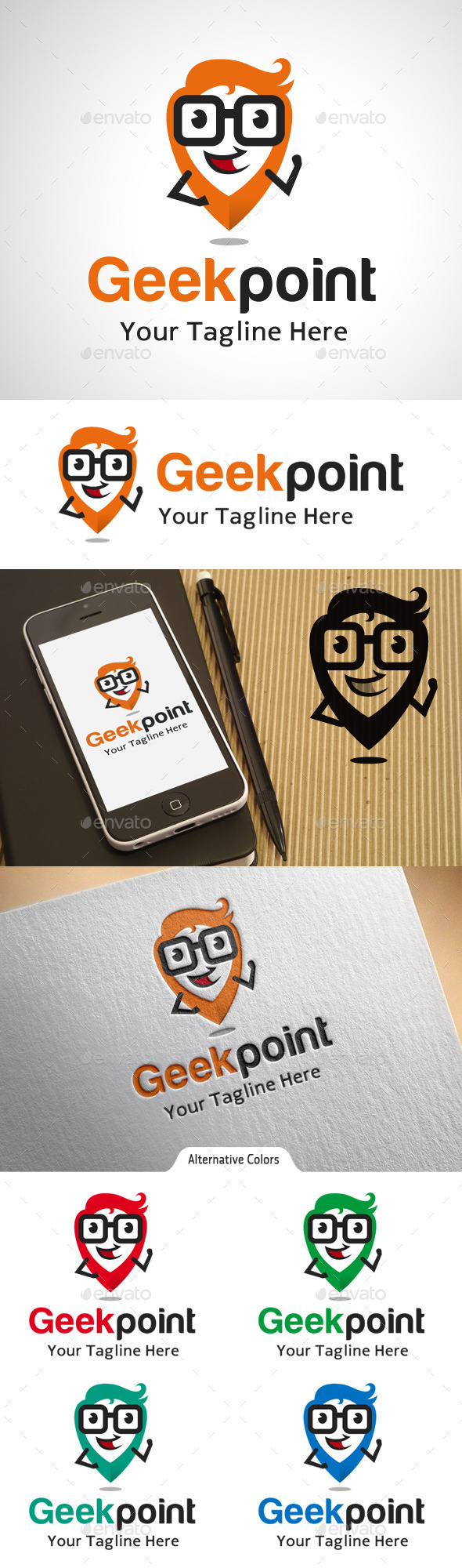 GraphicRiver Geek Point Location Logo 10575545