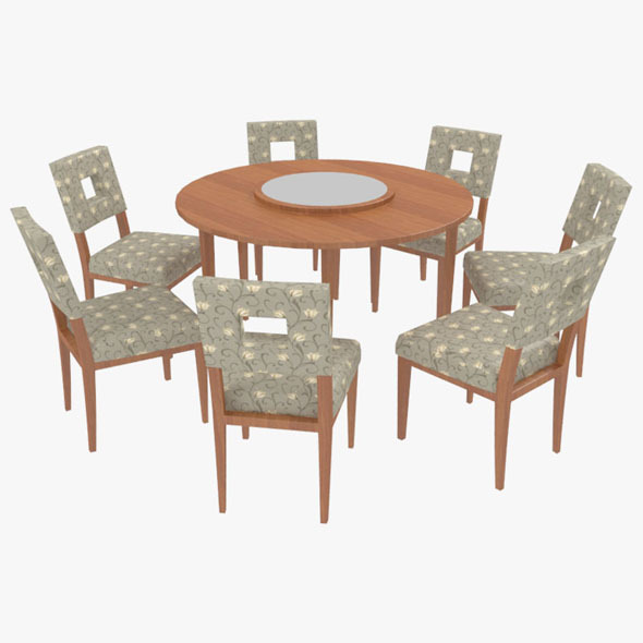 3DOcean Dining Table With Chairs-8 10575564