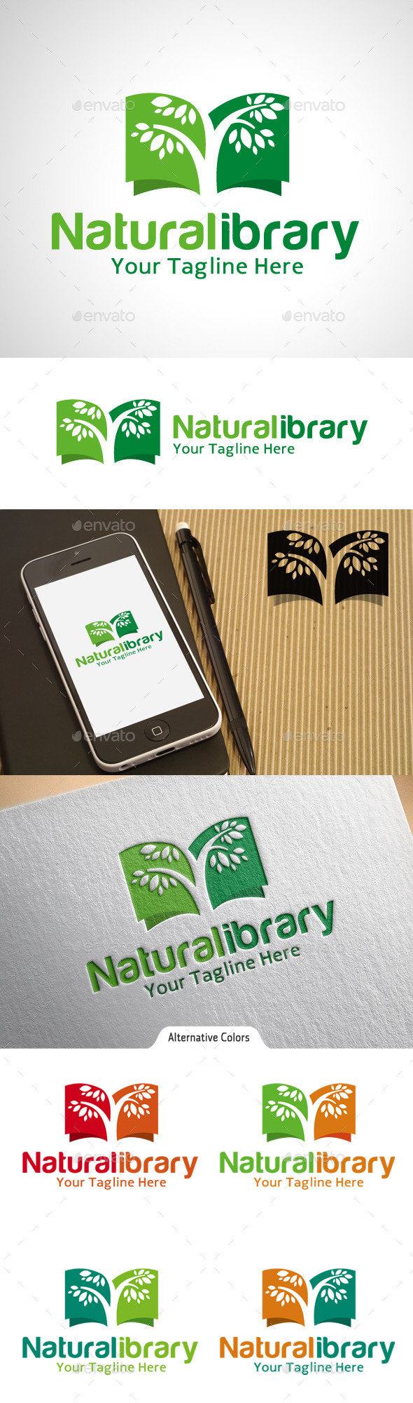 GraphicRiver Natural Library Logo 10575840