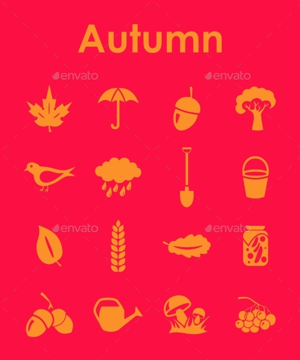 GraphicRiver Set of Autumn Icons 10575845