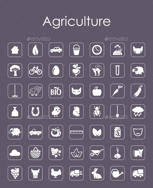 GraphicRiver Set of Agriculture Icons 10575857