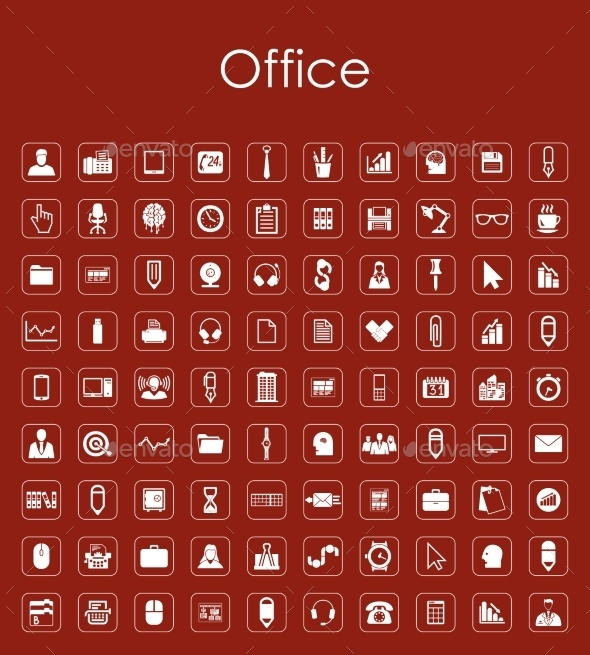GraphicRiver Set of Office Icons 10575861
