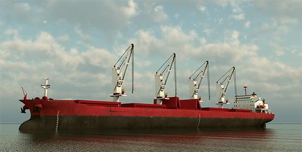 3DOcean Cargo Ship Panamax 10575869