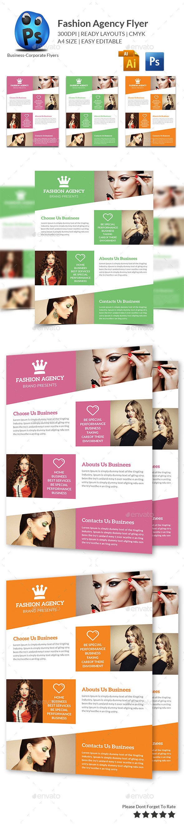GraphicRiver Fashion Agency Flyer Print Templates 10575873