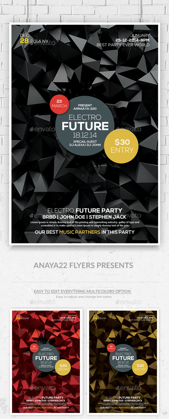GraphicRiver Futuristic Flyer Templates 10575894