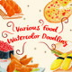Various Food Watercolor Doodling - GraphicRiver Item for Sale