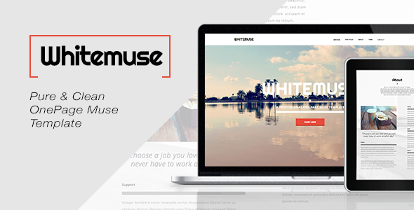 Whitemuse - One Page Muse Template