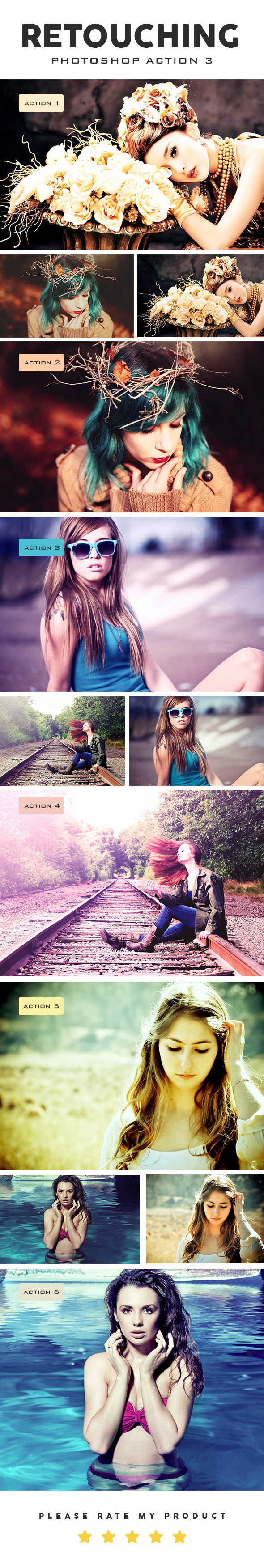 GraphicRiver Retouching Photoshop Action 3 10575990