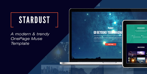 Stardust - One Page Muse Template