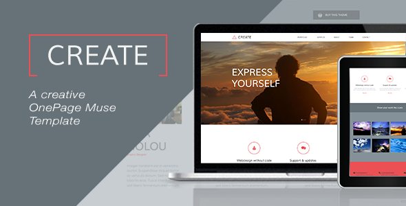Create - One Page Muse Template - Creative Muse Templates