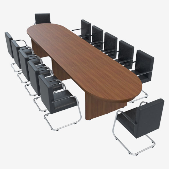 3DOcean Conference Table With Chairs-1 10576105