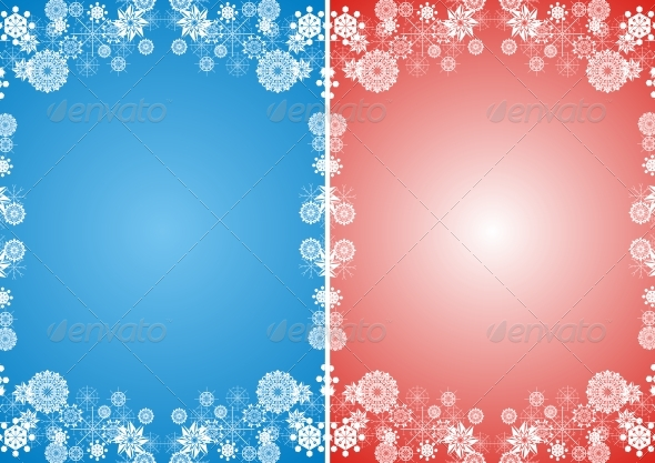 Snowflakes frame - Backgrounds Decorative