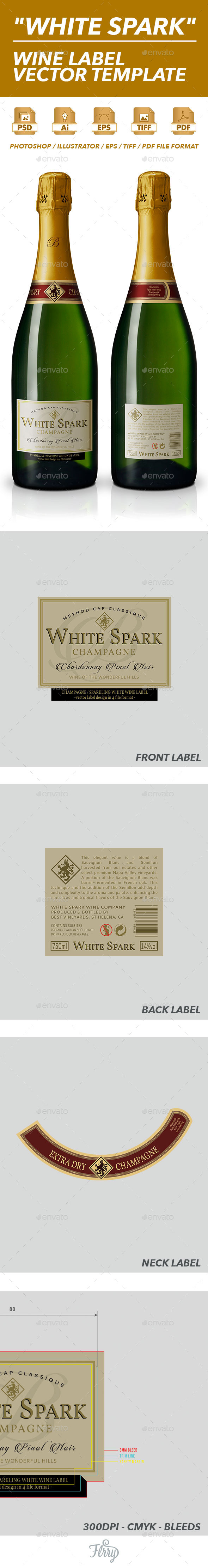 GraphicRiver Sparkling Wine Label Vector Template 10576130
