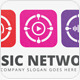 Music Network Logo - GraphicRiver Item for Sale