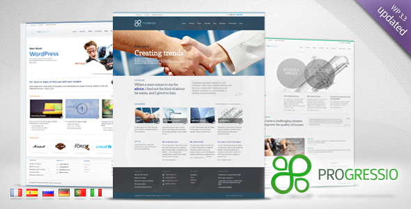 Progressio - Premium Business WordPress Theme
