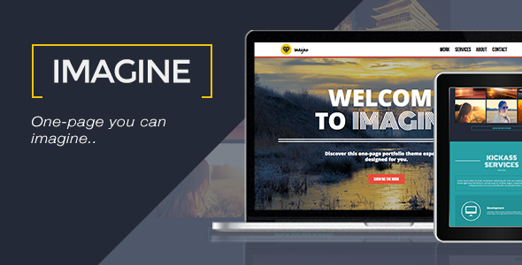 Imagine - One Page Muse Template - Creative Muse Templates