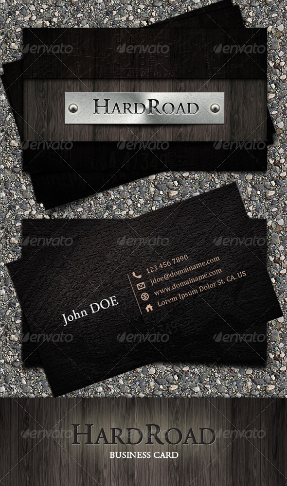 HardRoad Business Card - Grunge Business Cards