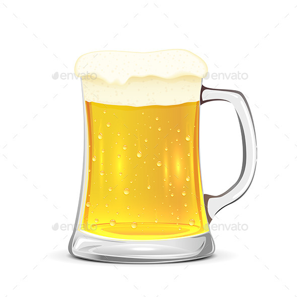 GraphicRiver Glass Mug of Beer 10576365