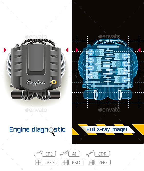 GraphicRiver Engine Diagnostic Full X-ray 10576923