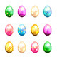 Colorful Easter Eggs - GraphicRiver Item for Sale