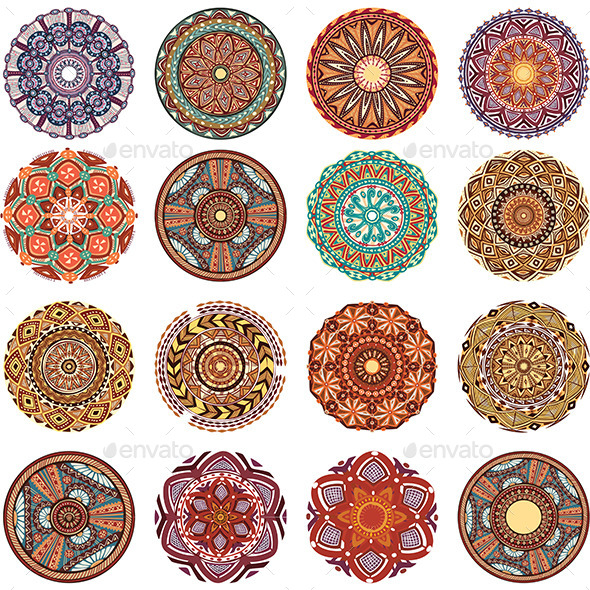 GraphicRiver Round Ornament Pattern Collection 10577075