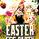 Easter EGG Party   Flyer Template PSD - GraphicRiver Item for Sale