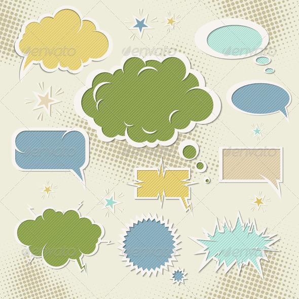 GraphicRiver Speech Bubbles 1066148