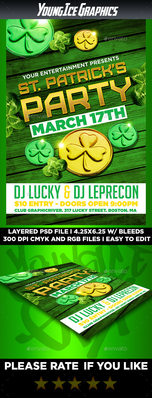GraphicRiver St Patricks Party Flyer Template 10577356